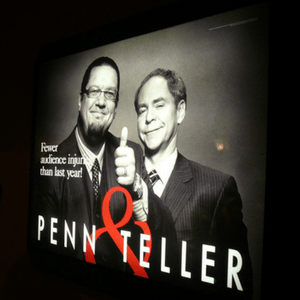 Penn and Teller Vegas magic show for Families