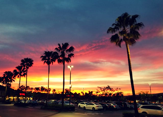 Sunset in Anaheim CA