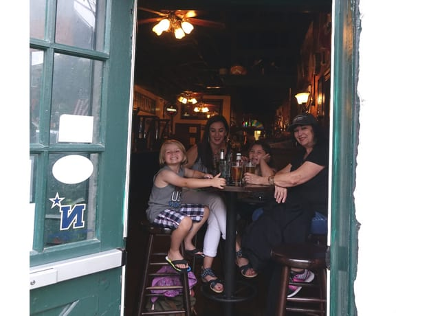 Kids inside Galway Bay Irish Pub Annapolis