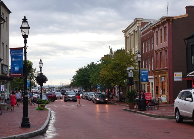 View of Annapolis Downtown near Harbor