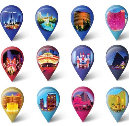 Hotels on Vegas Strip Map
