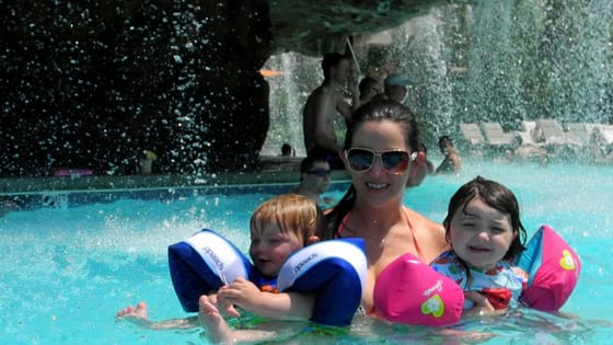 Family fun in Mirage Pool Las Vegas
