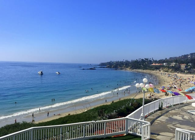 High view of Laguna beach