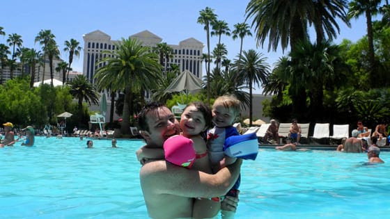 Mirage Vegas pool with kids