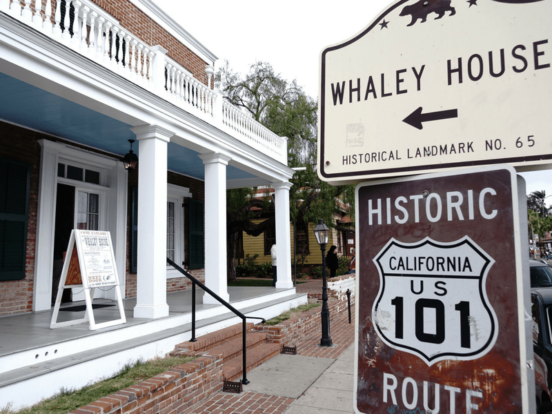 Front of Whaley House Old Town San Diego