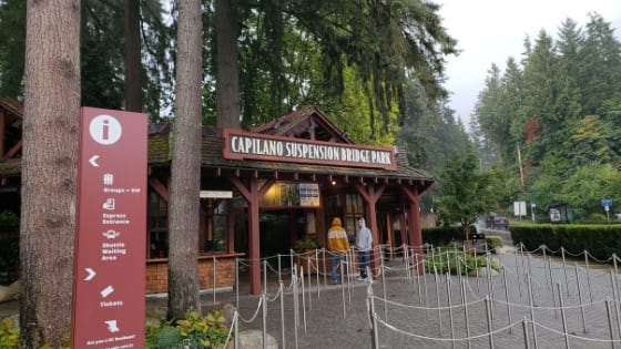 Entrance to Capilano Suspension Bridge Park Tickets