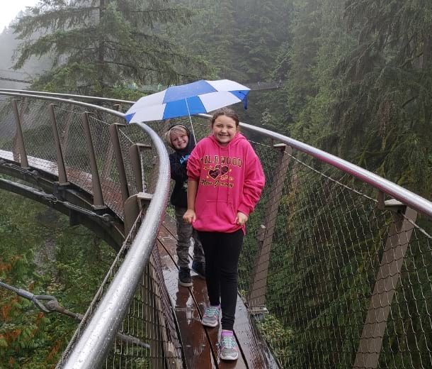 Capilano Suspension Bridge Park with kids