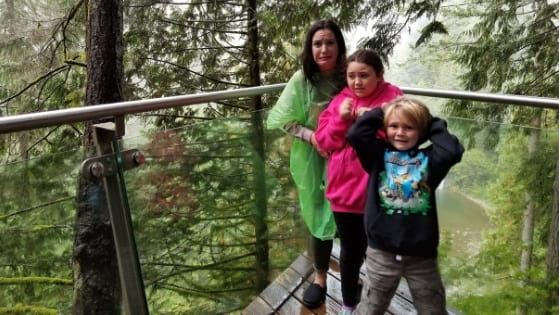 Family at Capilano Cliff Walk Vancouver