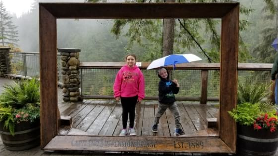 Raining at Capilano Suspension Bridge Park