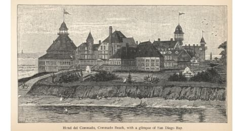 Old Postcard from Hotel Del Coronado