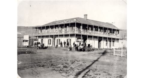 Old Photo of original Cosmopolitan Hotel