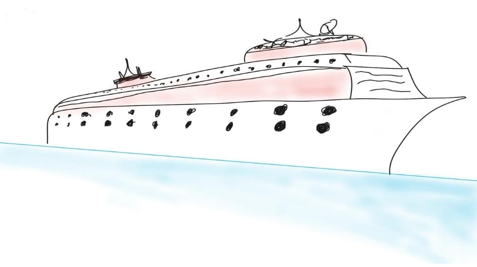 Cruise Ship Drawing