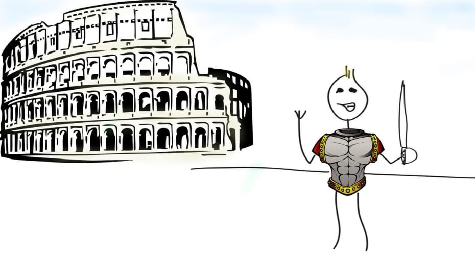 gladiator costume at coliseum