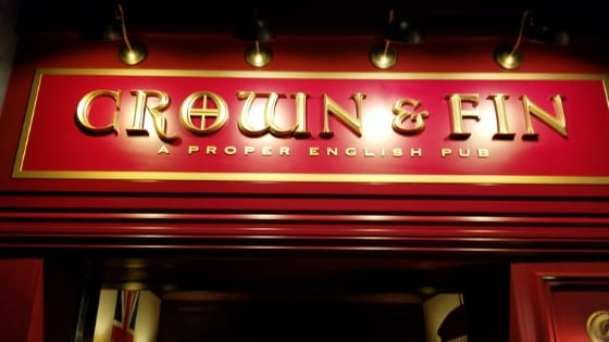 Crown and Fin Pub on Disney Wonder