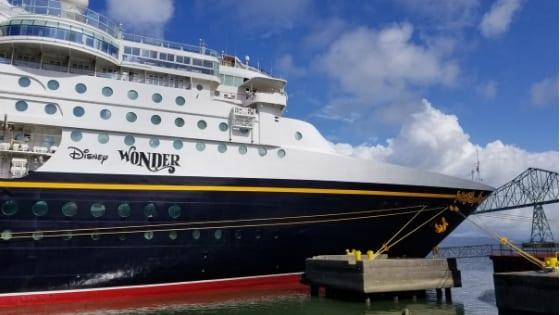 Disney Wonder in Port