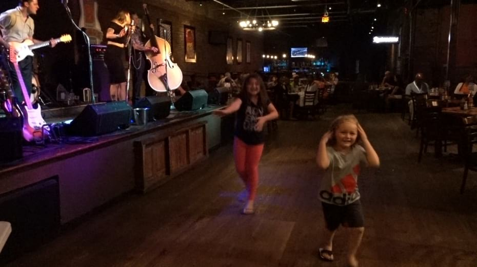 Kids dance to live music in Nashville