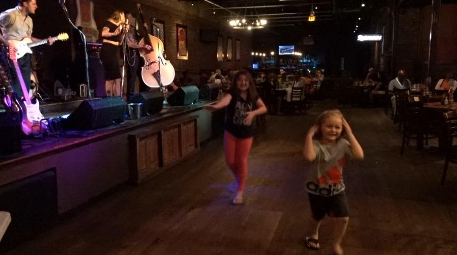 Kids dance to live music in Nashville