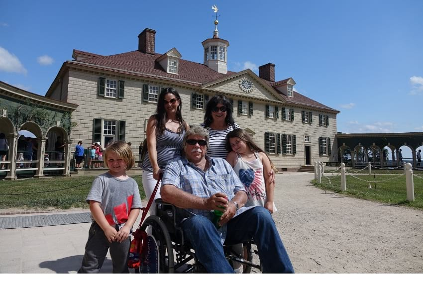 Mount Vernon with kids and wheelchair