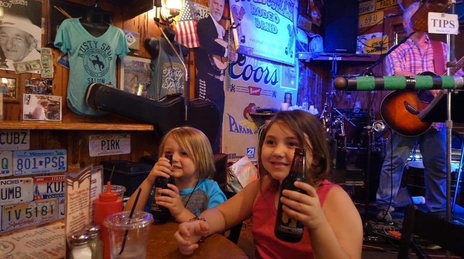Kids in Rusty Spur Saloon in Scottsdale AZ