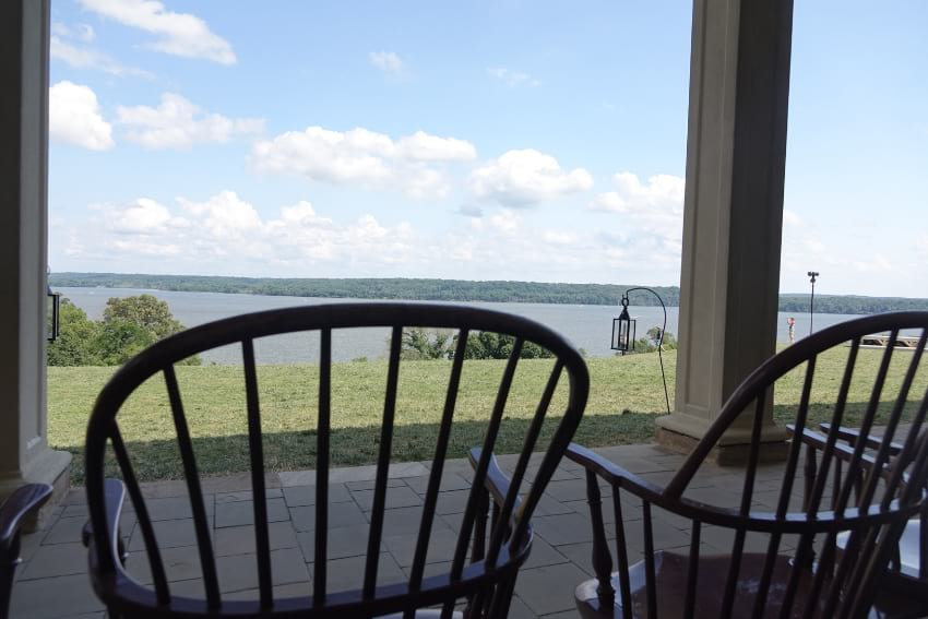 View of Potomac River from Patio at Mount Vernon