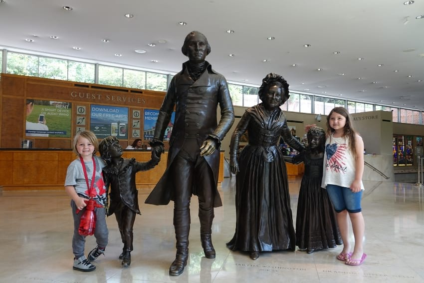 George Washington Family Statues at Mount Vernon