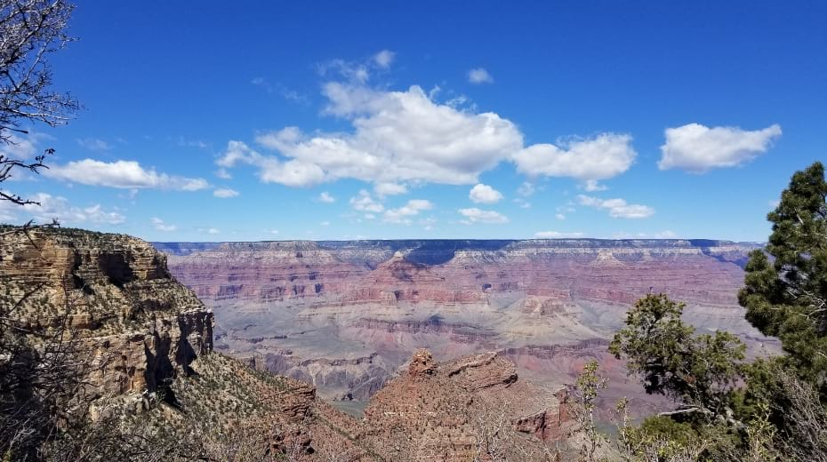 Stunning view from Grand Canyon South Rim