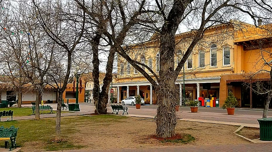View from Santa Fe Plaza New Mexico