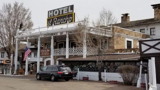 Front of Hotel El Rancho in Gallup NM