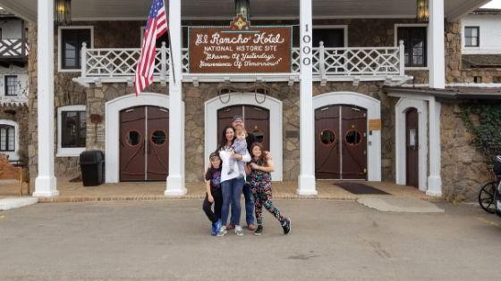 Family at Hotel El Rancho