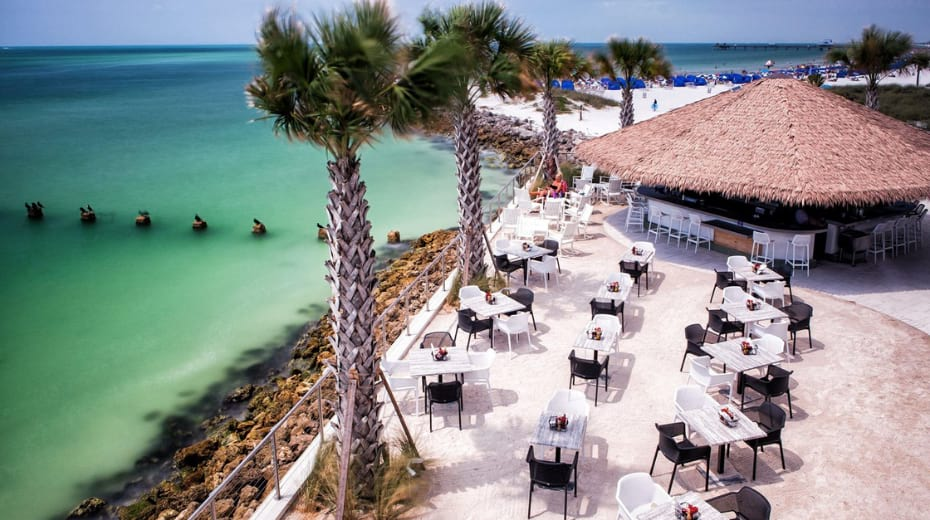 Opal sands Clearwater beachfront dining