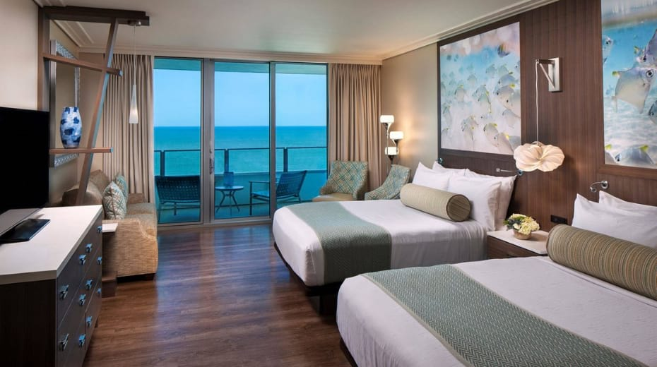 Inside rooms at Opal Sands Clearwater Beach