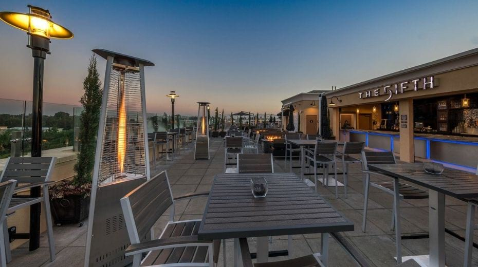 The Fifth rooftop restaurant in Anaheim