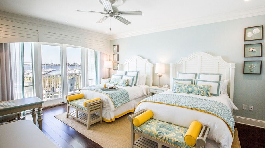 Charleston family suite inside Beach Club Harbor Resort