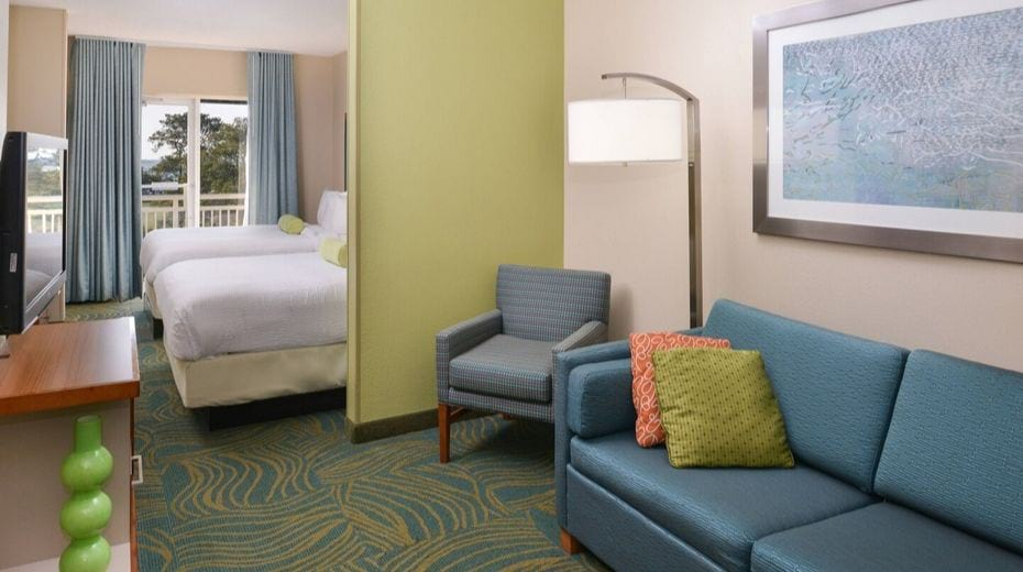 Room inside Charleston Springhill Suites Downtown Hotel