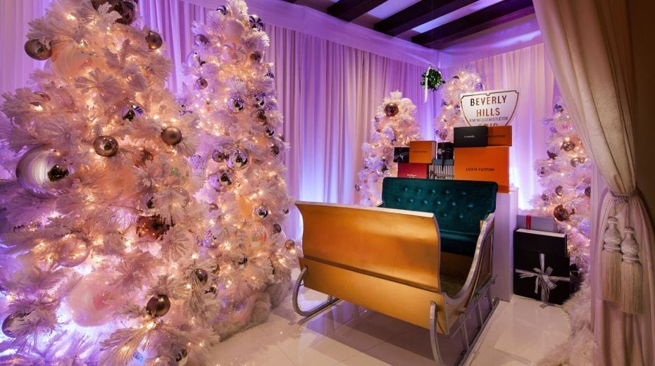 Christmas decor at Montage Beverly Hills