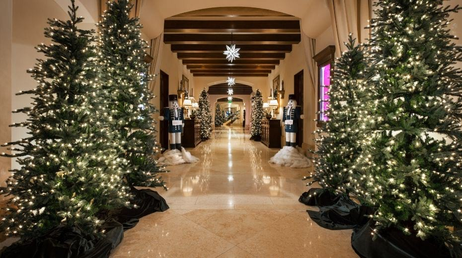 Montage Beverly Hills Hotel Christmas Trees