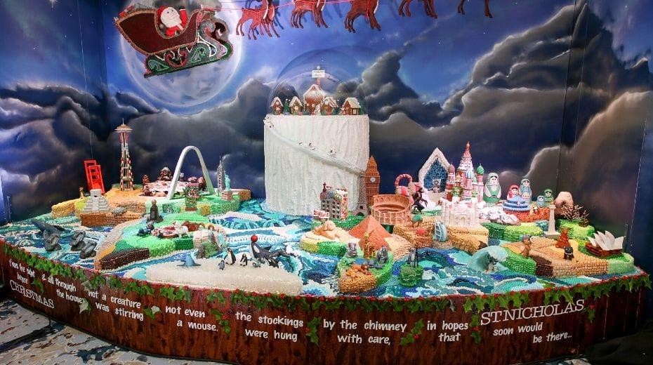 Ritz Carlton gingerbread display