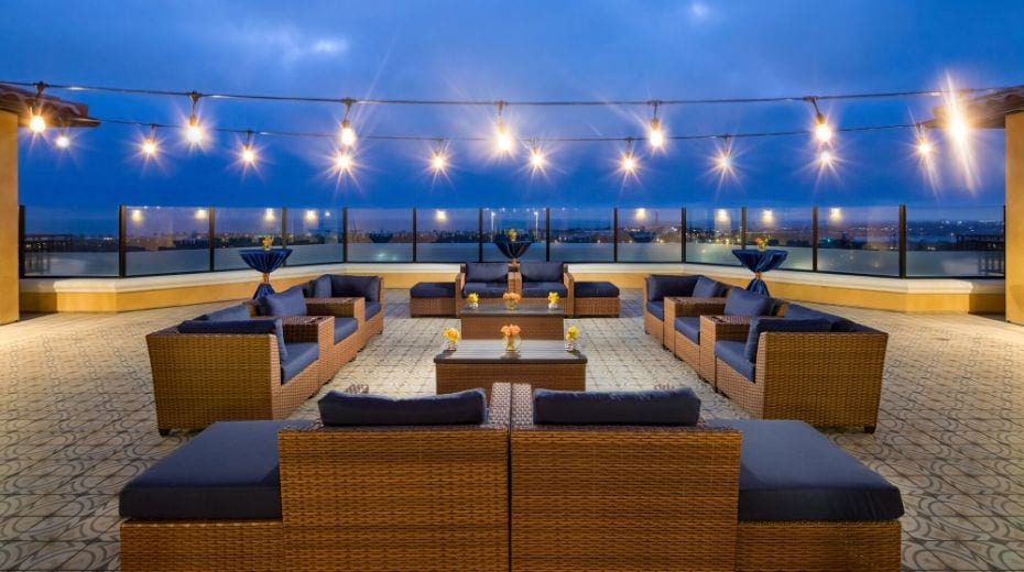 Westin Carlsbad Resort Patio lights