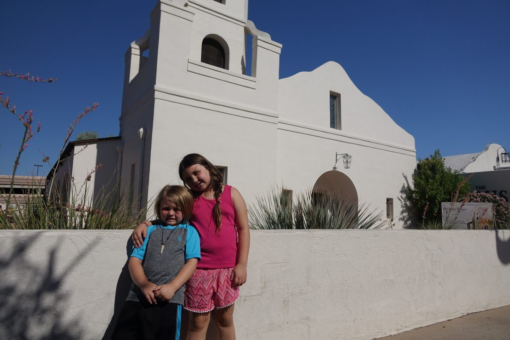Visiting the Old Adobe Mission in Scottsdale AZ with kids