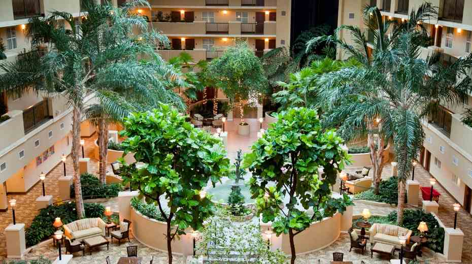 Lobby Atrium at Embassy Suites Miramar Beach Destin Fl