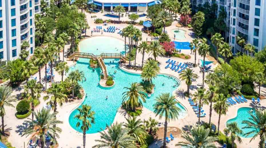 Lagoon pool at Destin Palms Resort in Destin Fl
