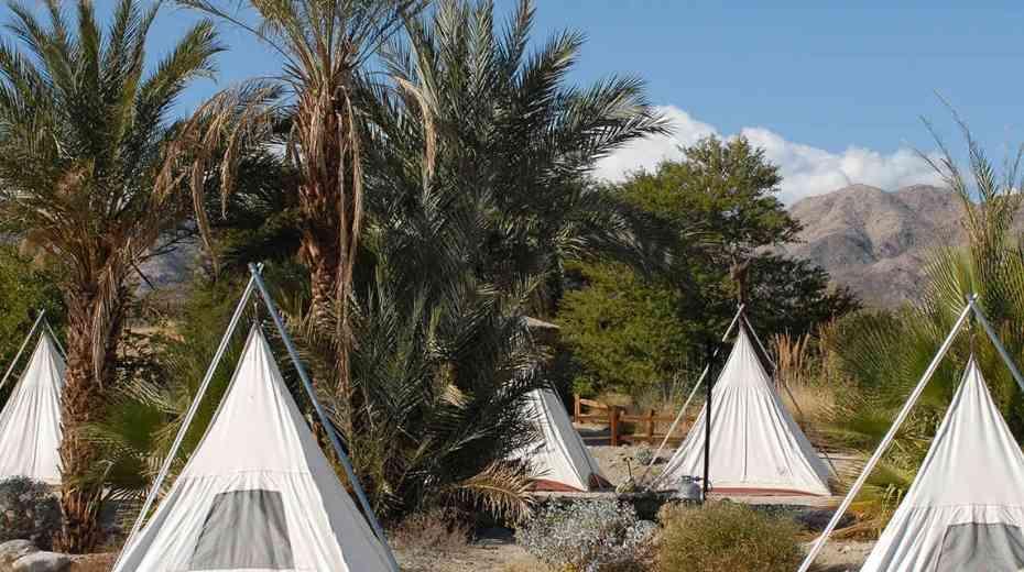teepee glamping at living desert starry safari- palm springs glamping