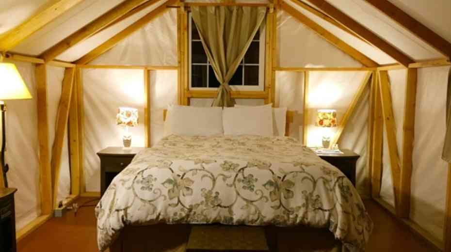 glamping adventure tents at Fernwood resort in Big Sur California