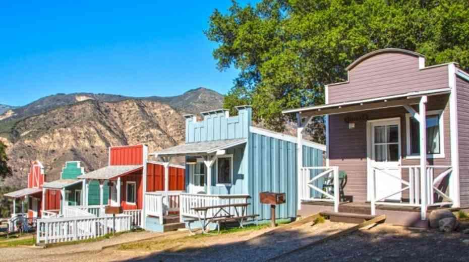 Unique family glamping site at Rancho Oso RV Camping Resort in Santa Barbara California