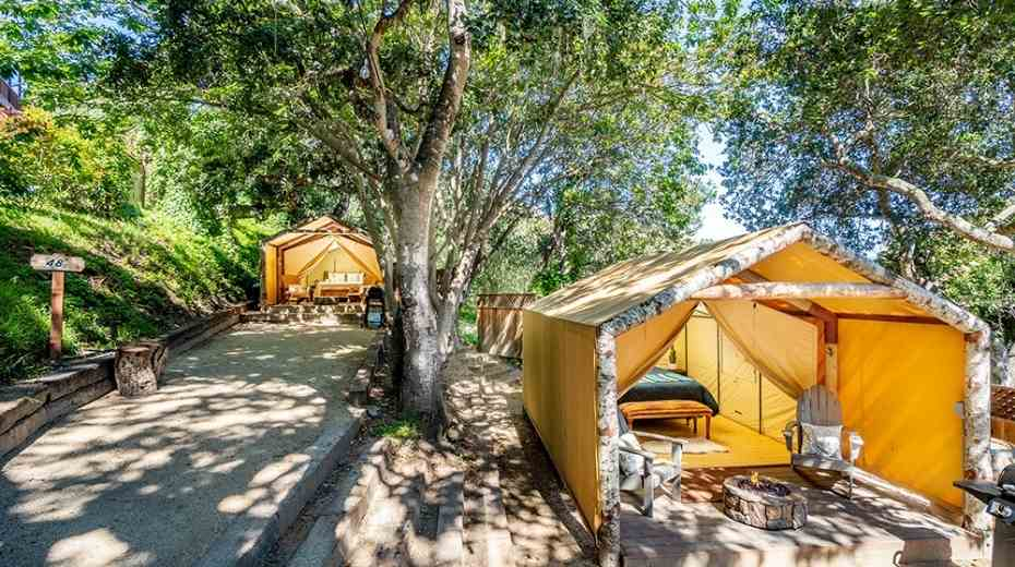 glamping tents at Saddle Mountain Ranch in Carmel-Big Sur California