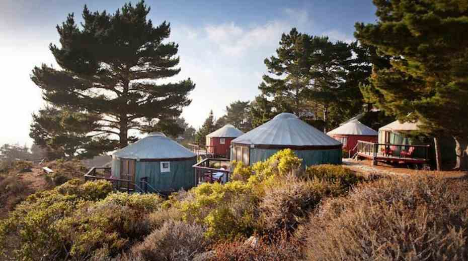 yurt glamping at Treebones Resort in Big Sur California