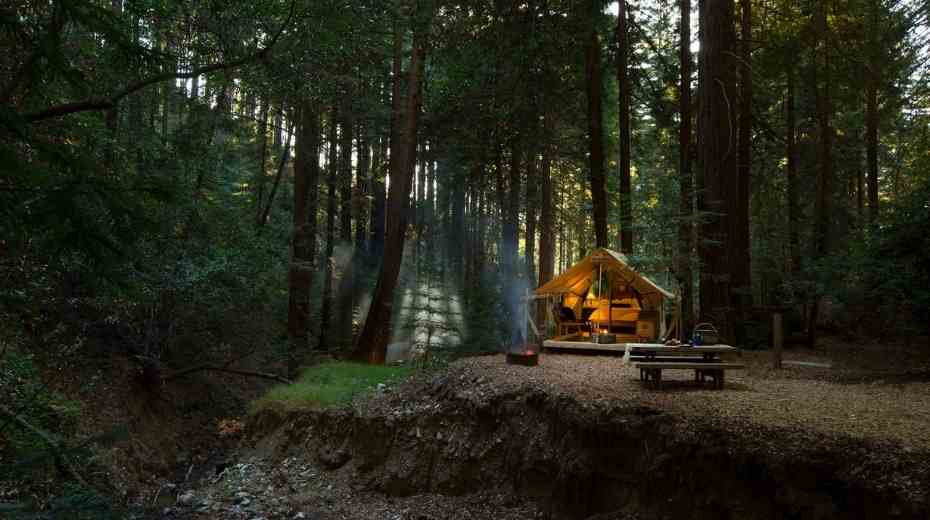 glamping tents at Ventana Resort in Big Sur California